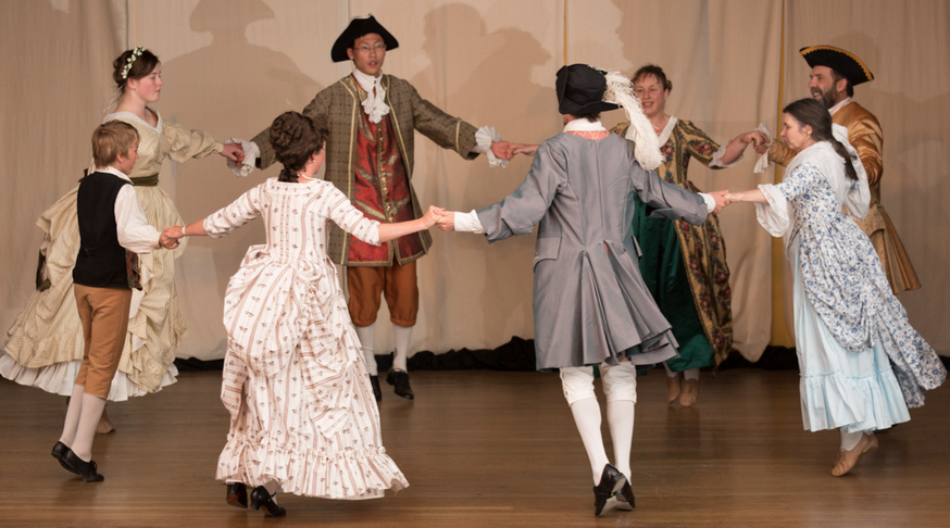 Earthly Delights Historic Dance Academy performing at Jane Austen Festival Australia