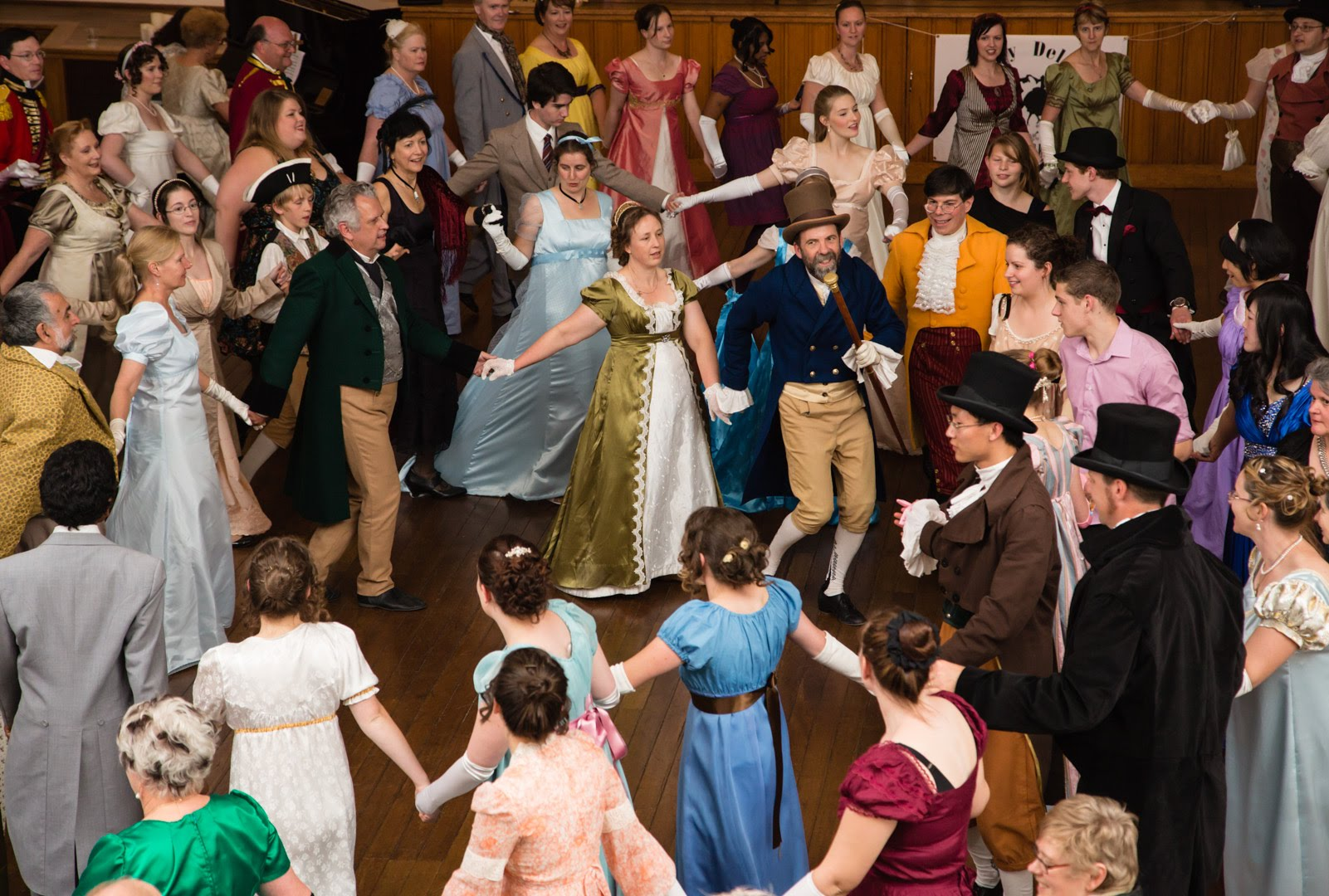 EDHDA at Jane Austen Festival Australia leading dancing at the Jane Austen Regency Ball