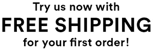 Free shipping for your first order!